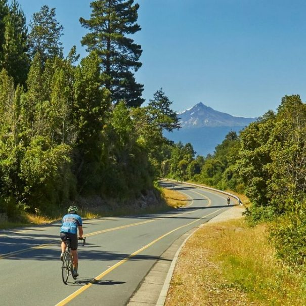 Chile Cycling Holiday: Road Cycling Tour with Forest and Mountain Views in Chile´s Lake District