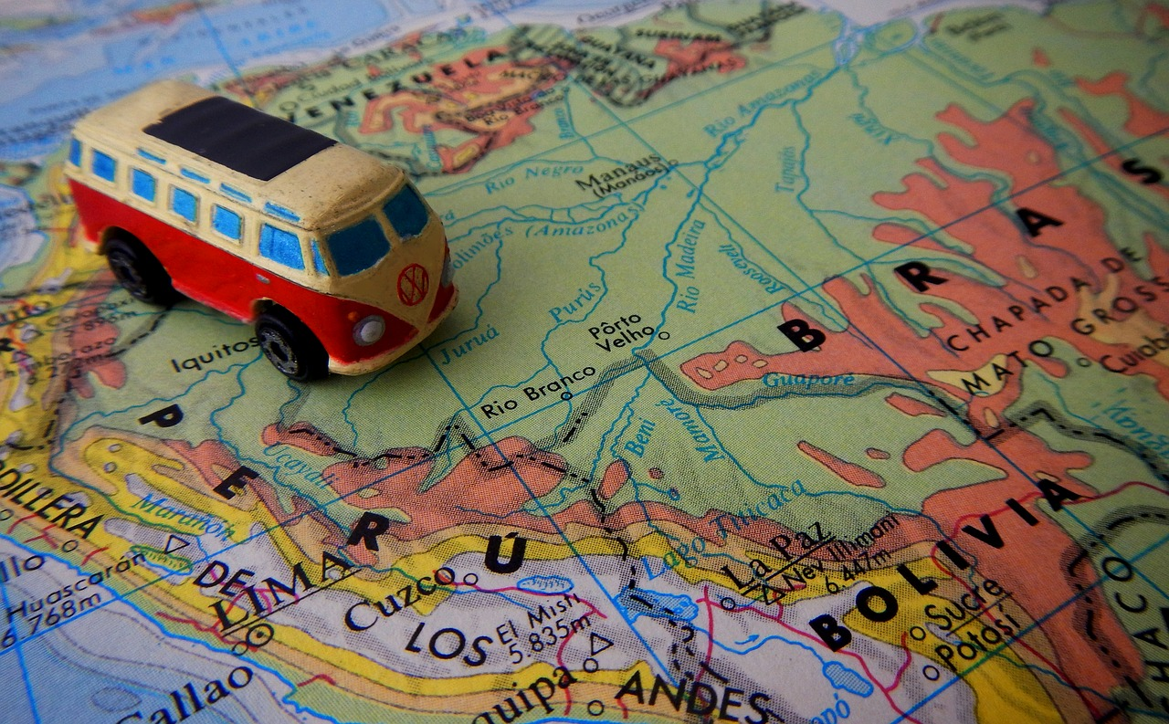 Travel Map and Destinations in Central & South America