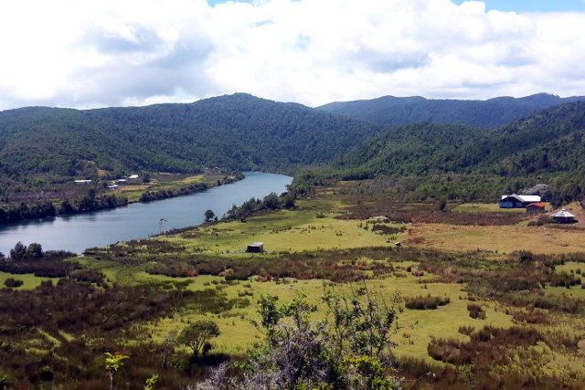 River View during Hiking Tour in Mapu Lahual in Chile
