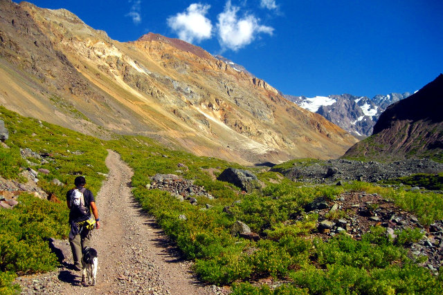 Hiking in the Andes Mountains in Chile - Hike to El Morado Natural Monument
