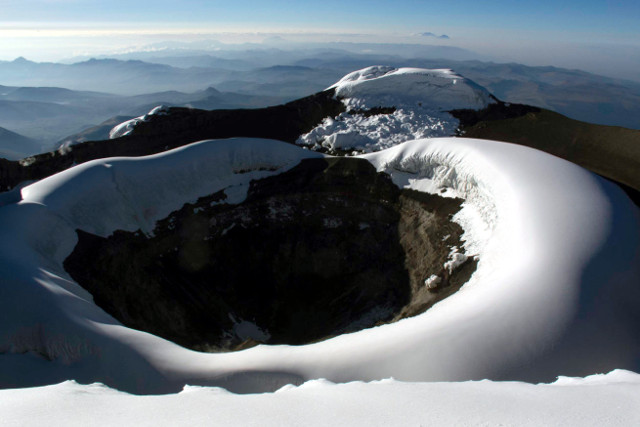 Ecuador-Hiking-Volcanoes-Cotopaxi-Crater-Summit