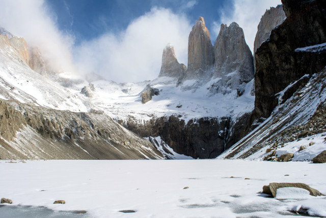 Chile-Torres-del-Paine-National-Park-Winter-W-Trek-Tower-Base-Viewpoint